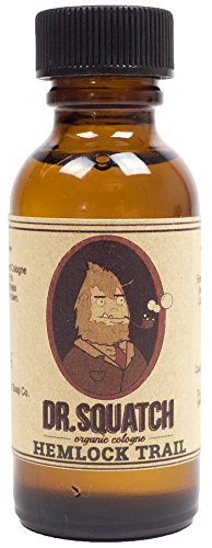 Dr. Squatch - Hemlock Trail Cologne - All Natural Men's Colonge with Spruce and Patchouli Oils