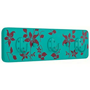 Liberty Hardware 123170 Screen Print Hook Rail, Wild Flowers 2