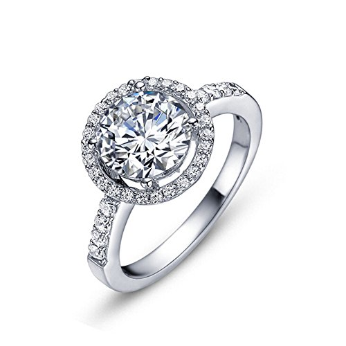 TenFit Jewelry Wedding Ring for Women Sterling silver ring engagement diamond ring
