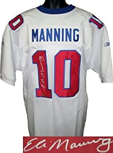 Eli Manning signed New York Giants Reebok Authentic White 2004 TB Jersey- Steiner Hologram