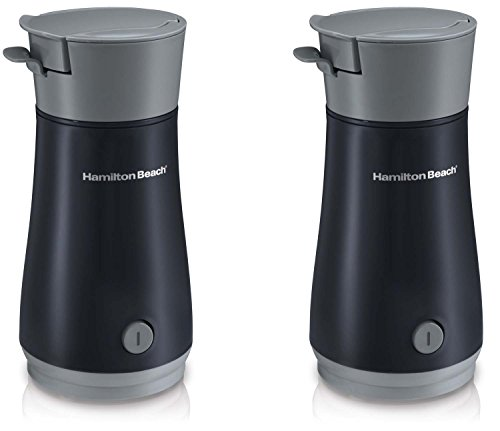 New Hamilton Beach 40916 Pack Of 2 Gray/Black Single Served Iced Tea Brewer