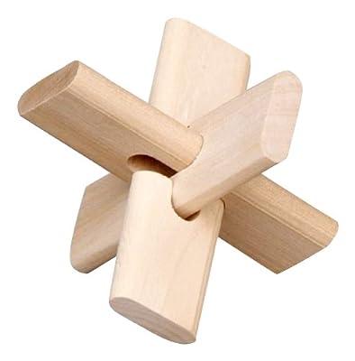 环保木制玩具 十字锁