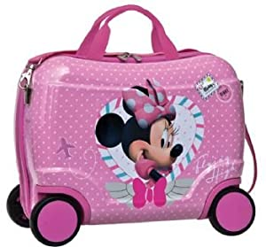 Disney Ride On Minnie Mouse Heart ABS Small Suitcase Hand Luggage 2 PIECES PER BOX UNIT pink
