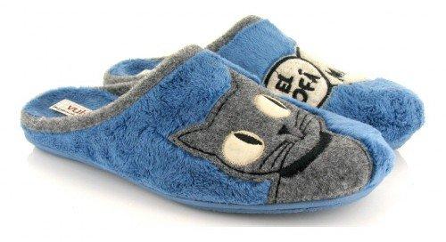 VUL-LADI, Pantofole donna blu Blu intenso blu Size: 39