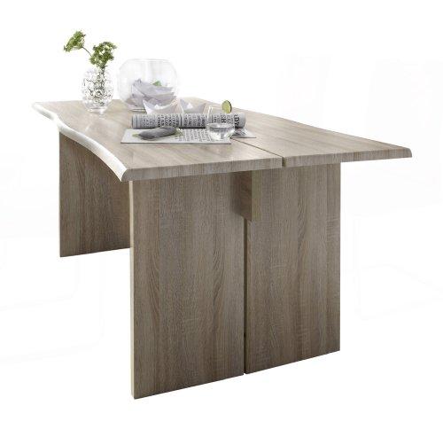 Presto-mobilia-11575-Esstisch-Designer-Tisch-Salto-25-180x90x76-cm-Sonoma-Eiche-hellEiche-sgerau-hell