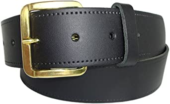 Plain Leather Belt - Black, Tan or Brown - Sizes: 29