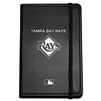 C.R. Gibson Small Leather Bound Journal, Tampa Bay Rays (M919464WM)