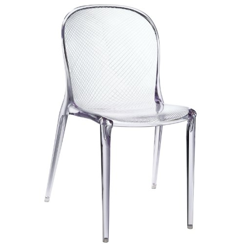 Modern Boutique Dining Chair In Clear Acrylic Mofercek