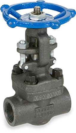 Sharpe Valves 34834 Series Carbon Steel Gate Valve, Class 800, Rising Stem, Inline, Hand Wheel, NPT Female