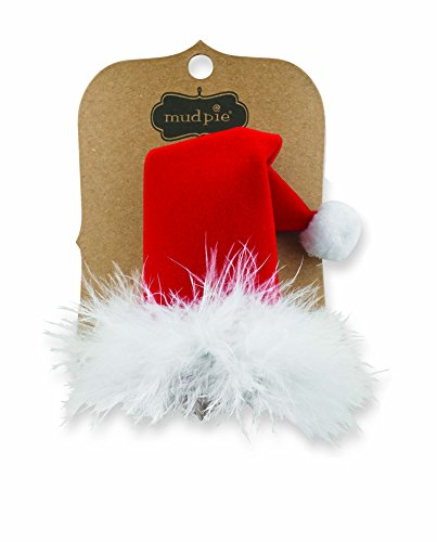 Mud Pie Christmas Holiday Santa Baby Girl Velvet Santa Hat Hair Clip