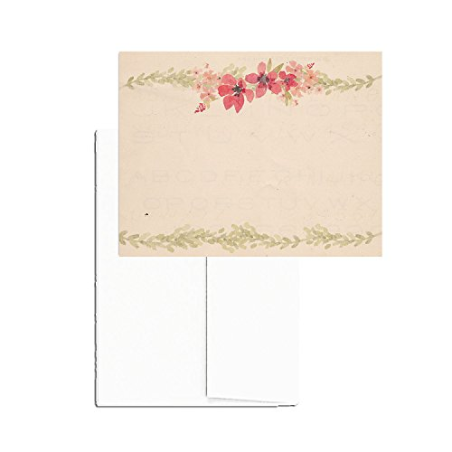 greatpapers com templates - 24 printable blank note cards with envelopes vintage floral