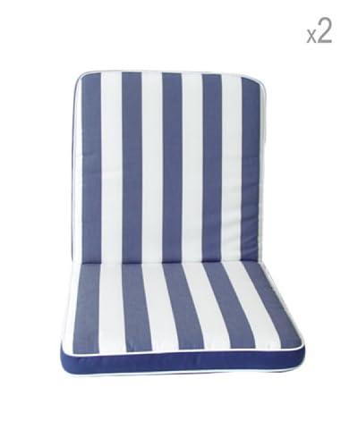 Arredamenti Italia Set 2 Cuscini Sfoderabili Bianco/Blu