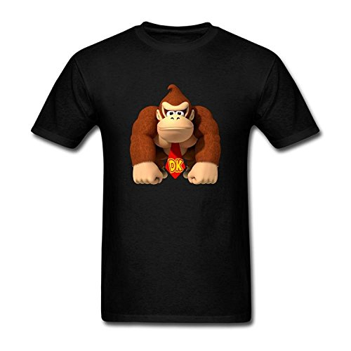 Men's Donkey Kong Kids Boys And Girls T-Shirt M ColorName Short Sleeve Large