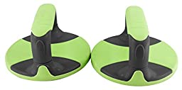 RBX Fitness Round Push Up Bars (Green)