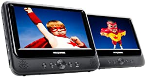 Nextbase NB49AC / SDV49AC Twin 9-inch Portable DVD Players with Car Kit and Integrated Battery