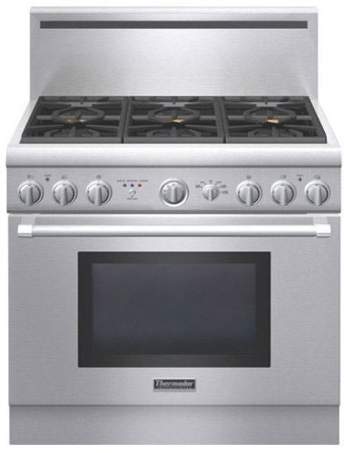 Thermador : PRD366GHU 36 Dual-Fuel Range - Stainless Steel