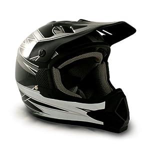 VCAN Sports V356 Full Face Adult Motocross/ATV Helmet with EC Graphics (Black, Small)