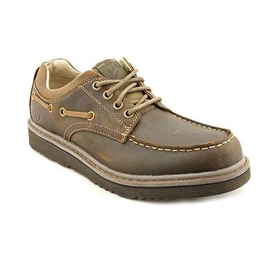 Skechers Renan Bervado Mens Size 8.5 Brown Leather Oxfords Shoes UK 7.5