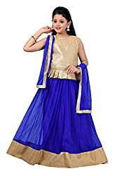 Aarika Girls' Self Design Party Wear Lehenga Choli and Dupatta Set