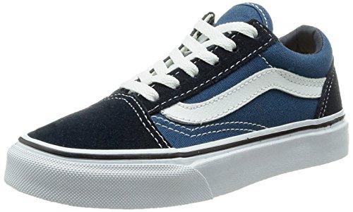 Vans OLD SKOOL, Low-Top Sneaker, unisex bambino, Blu (Navy/True White NWD), 34.5