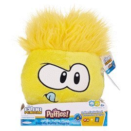 Amazon.com: Disney Club Penguin Jumbo Yellow Puffle Plush - Series 4