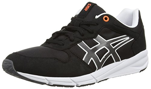ASICS Shaw Runner Sneakers Unisex, Colore Nero (Black/Light Grey 9016), Taglia 7.5 UK (42 EU)