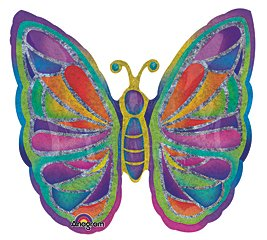 "Gorgeous Butterfly Party 25"" Mylar Balloon"