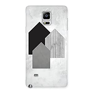 White Grey Black Back Case Cover for Galaxy Note 4