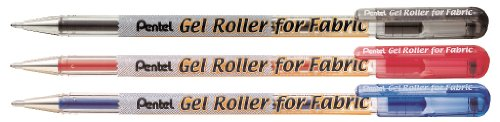 Pentel BN15 - Bolígrafo roller de gel para textiles, 1 mm, color azul