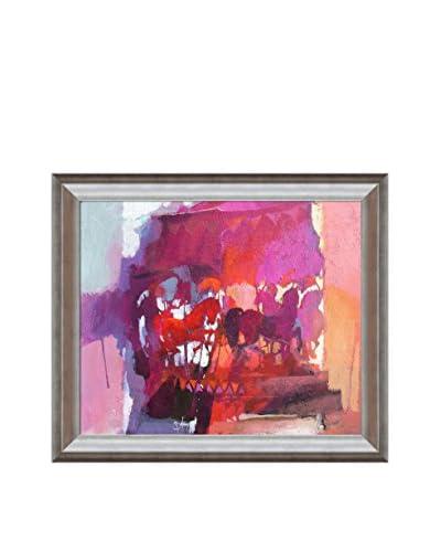 Alex Bertaina Oh Cavallino Rosso Dove Sei Framed Canvas Print