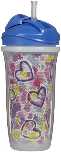 Playtex Insulator Sports Straw Cup - 9 Oz - Girl front-661723