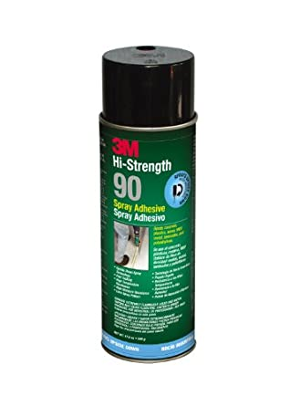 3M Hi-Strength 90 Spray Adhesive, INVERTED 24 Fl. Oz. (Net Wt 17.6 oz.) aerosol (Pack of 1)