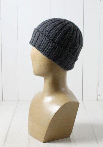(ケーブル) Cable 日本製 カシミヤニット帽[カシミヤ100%] 03-21055 ネイビー 国産 ニットワッチ ニットキャップ ビーニー 男性 メンズ 紳士 防寒 帽子