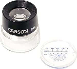 Carson Optical Lumiloupe 10X Power Magnifier With Dual Lens