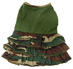 Adorable and Lightweight Camouflage Ruffle Dress for Small Dogs - XL