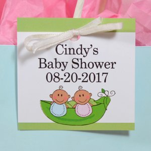 twins boy girl baby shower gift tag favors health