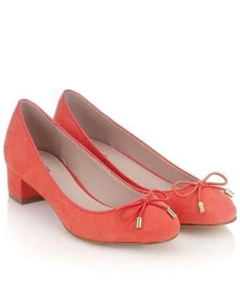 Monsoon Femmes Ballerines à talon-bloc Ontario Taille Chaussures 40 Rose