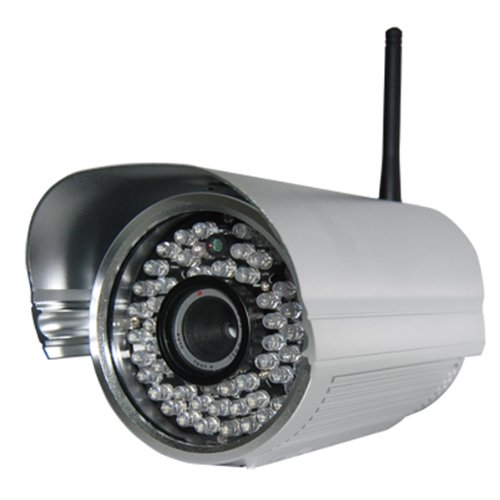 Foscam FI8905W Outdoor Wireless/Wired IP Camera with 30 Meter Night Vision 60 IR LEDs - Silver