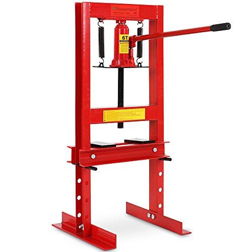 Werkstattpresse-inkl-Hydraulikpumpe-und-2x-Druckplatten-Hydraulikpresse-6T