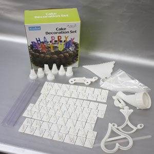 Cake Decorating Stencils Uk : Cake Decorating Icing Kit includes 7 nozzles, Icing Bags ...