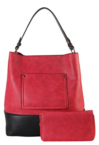 diophy-pu-leather-front-pocket-two-tone-bag-in-bag-hobo-accented-with-wallet-2-pieces-set-womens-pur