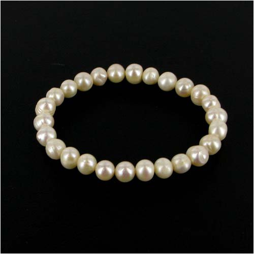 Mescerata White Pearl Bracelet - Necklace & Bracelet Costume Jewellery Range
