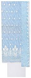 Epic Retail Women's Cotton Unstitched Dress Material (Sky Blue)