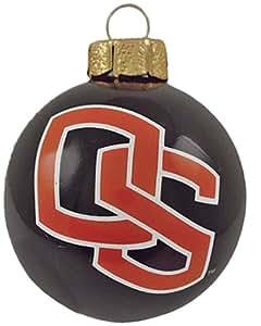 NCAA Oregon State Beavers 3-Piece Glass Ball Ornament Set