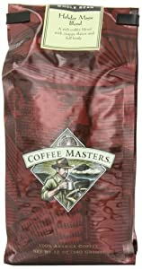 Coffee Masters Flavored Coffee Holiday Magic Blend, Whole Bean, 12-Ounce (Pack of 2)