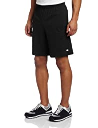 Champion Men\'s Jersey Short With Pockets, Black, Medium