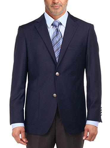 Salvatore Exte Men's 2 Button Suit Separate Jacket Sport Coat Blazer (54 Long US / 64 Long EU, Navy)