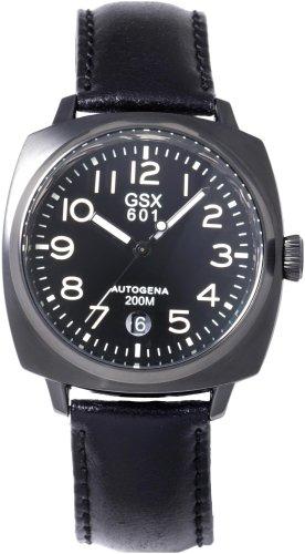 GSX (ジーエスエックス) 腕時計 GSX601BBK オートゲイナ メンズ BLACK MODE COLLECTION BLACK MONDAY コードバンストラップ