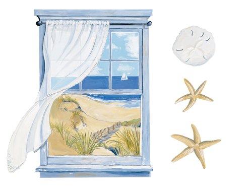 Wallies Seaside Window Wallpaper Mural