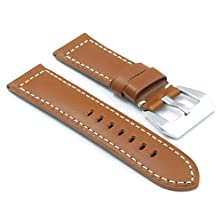 buy Dassari Monaco Smooth Leather Watch Band For Panerai In Tan Size 24/22 24Mm